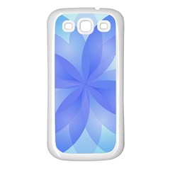 Abstract Lotus Flower 1 Samsung Galaxy S3 Back Case (White)