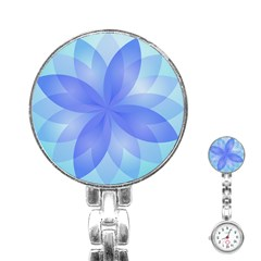 Abstract Lotus Flower 1 Stainless Steel Nurses Watch