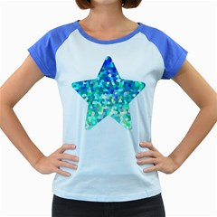 Mosaic Sparkley 1 Women s Cap Sleeve T Shirt (colored)