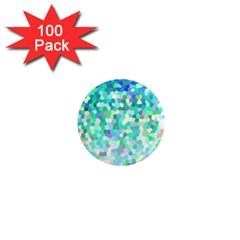 Mosaic Sparkley 1 1  Mini Button Magnet (100 Pack)