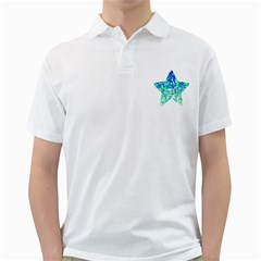 Mosaic Sparkley 1 Men s Polo Shirt (White)