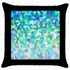 Mosaic Sparkley 1 Black Throw Pillow Case