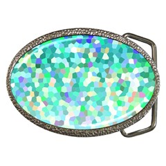 Mosaic Sparkley 1 Belt Buckle (Oval)