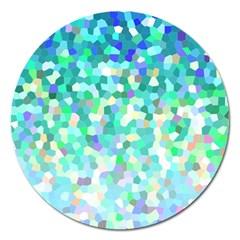 Mosaic Sparkley 1 Magnet 5  (round)