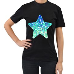 Mosaic Sparkley 1 Women s Two Sided T-shirt (Black)
