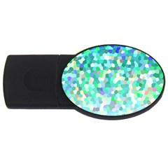 Mosaic Sparkley 1 4GB USB Flash Drive (Oval)