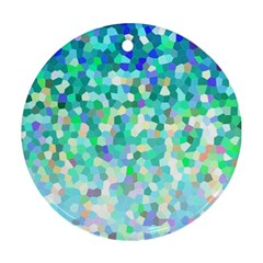 Mosaic Sparkley 1 Round Ornament (two Sides)