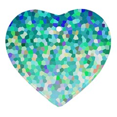 Mosaic Sparkley 1 Heart Ornament (Two Sides)
