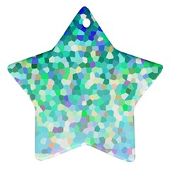 Mosaic Sparkley 1 Star Ornament (Two Sides)