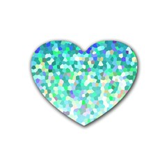 Mosaic Sparkley 1 Drink Coasters 4 Pack (heart)