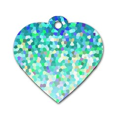 Mosaic Sparkley 1 Dog Tag Heart (one Sided)