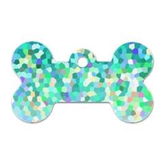 Mosaic Sparkley 1 Dog Tag Bone (two Sided)