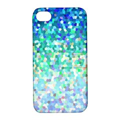 Mosaic Sparkley 1 Apple Iphone 4/4s Hardshell Case With Stand