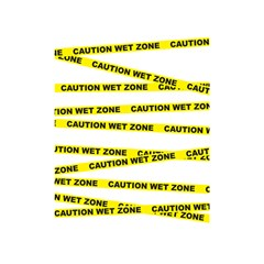 Caution Shower Curtain 48  X 72  (small)