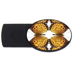 Butterfly Art Tan&black 4GB USB Flash Drive (Oval)