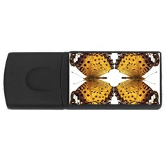 Butterfly Art Tan&black 4GB USB Flash Drive (Rectangle)