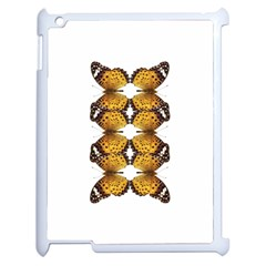 Butterfly Art Tan&black Apple Ipad 2 Case (white)