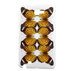 Butterfly Art Tan&black Samsung Galaxy Note 1 Hardshell Case