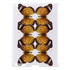 Butterfly Art Tan&black Apple Ipad 3/4 Hardshell Case (compatible With Smart Cover)