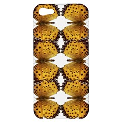Butterfly Art Tan&black Apple Iphone 5 Hardshell Case