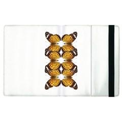 Butterfly Art Tan&black Apple iPad 2 Flip Case