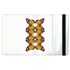 Butterfly Art Tan&black Apple Ipad 3/4 Flip Case