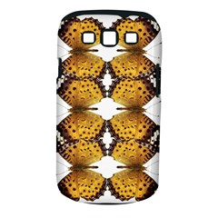 Butterfly Art Tan&black Samsung Galaxy S III Classic Hardshell Case (PC+Silicone)