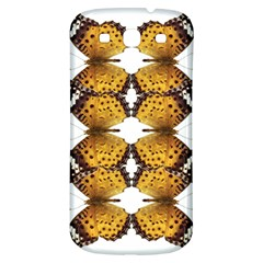 Butterfly Art Tan&black Samsung Galaxy S3 S III Classic Hardshell Back Case