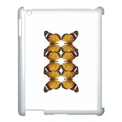 Butterfly Art Tan&black Apple iPad 3/4 Case (White)