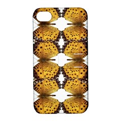 Butterfly Art Tan&black Apple Iphone 4/4s Hardshell Case With Stand