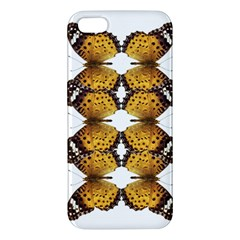 Butterfly Art Tan&black iPhone 5 Premium Hardshell Case