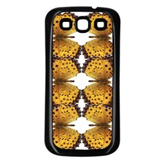 Butterfly Art Tan&black Samsung Galaxy S3 Back Case (Black)