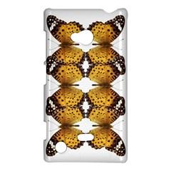Butterfly Art Tan&black Nokia Lumia 720 Hardshell Case