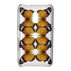 Butterfly Art Tan&black Nokia Lumia 620 Hardshell Case
