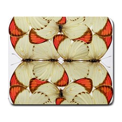 Butterfly Art White&orage Large Mouse Pad (Rectangle)