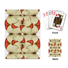 Butterfly Art White&orage Playing Cards Single Design
