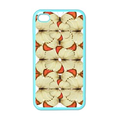 Butterfly Art White&orage Apple iPhone 4 Case (Color)