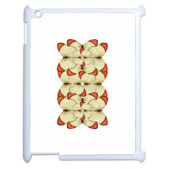 Butterfly Art White&orage Apple iPad 2 Case (White)