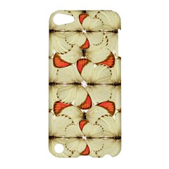 Butterfly Art White&orage Apple Ipod Touch 5 Hardshell Case