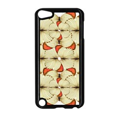 Butterfly Art White&orage Apple iPod Touch 5 Case (Black)