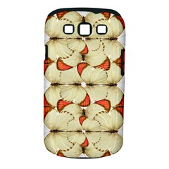 Butterfly Art White&orage Samsung Galaxy S III Classic Hardshell Case (PC+Silicone)