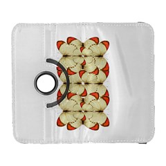 Butterfly Art White&orage Samsung Galaxy S  III Flip 360 Case