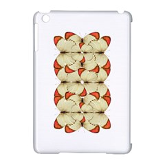 Butterfly Art White&orage Apple iPad Mini Hardshell Case (Compatible with Smart Cover)
