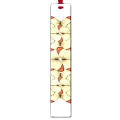 Butterfly Art White&orage Large Bookmark