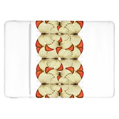 Butterfly Art White&orage Samsung Galaxy Tab 8.9  P7300 Flip Case