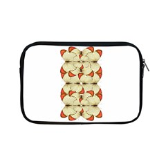 Butterfly Art White&orage Apple Ipad Mini Zippered Sleeve