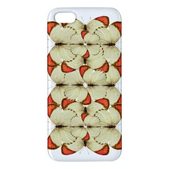 Butterfly Art White&orage iPhone 5S Premium Hardshell Case