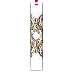 Butterfly Art Ivory&brown Large Bookmark