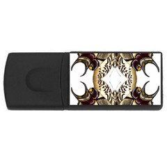 Butterfly Art Ivory&brown 2GB USB Flash Drive (Rectangle)