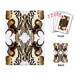 Butterfly Art Ivory&brown Playing Cards Single Design